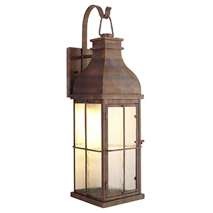 Vincent Weathered Copper Five-Inch LED Outdoor Wall Lantern