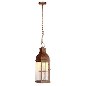 Vincent Weathered Copper LED Outdoor Pendant