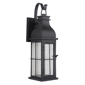Vincent Midnight Seven-Inch LED Outdoor Wall Lantern