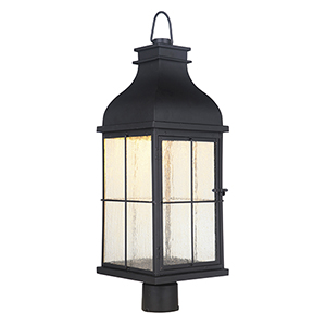 Vincent Midnight LED Outdoor Post Mount