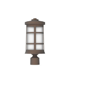 Resilience Lanterns Bronze One-Light Outdoor Post Mount