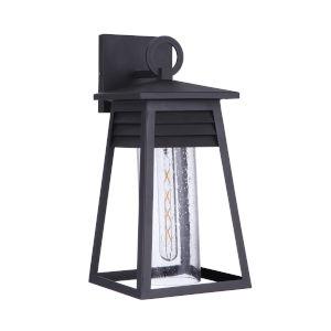 Becca Textured Matte Black Medium One-Light Outdoor Lantern