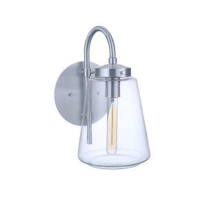 Laclede Satin Aluminum Eight-Inch One-Light Outdoor Wall Sconce
