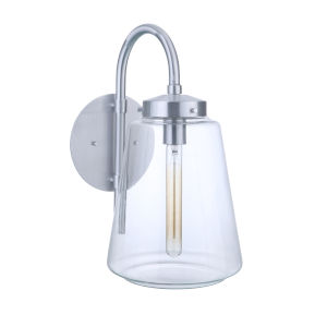 Laclede Satin Aluminum Nine-Inch One-Light Outdoor Wall Sconce