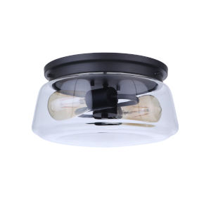 Laclede Midnight Two-Light Outdoor Flush Mount
