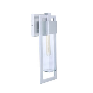 Perimeter Satin Aluminum 19-Inch One-Light Outdoor Wall Sconce