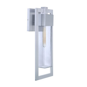 Perimeter Satin Aluminum 22-Inch One-Light Outdoor Wall Sconce