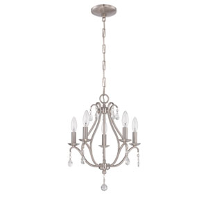 Brushed Nickel Five-Light Mini Chandelier