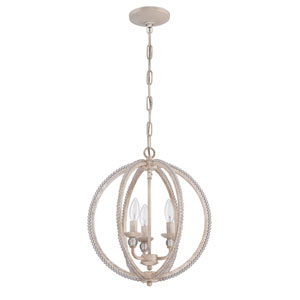 Antique Linen Three-Light Pendant