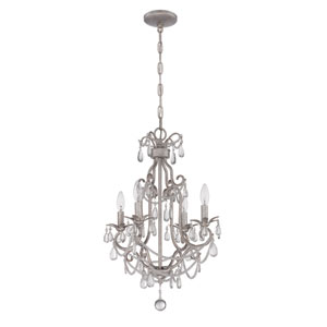 Antique Silver Four-Light Mini Chandelier