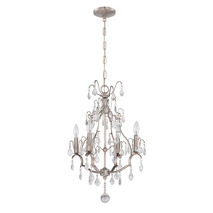 Brushed Nickel Four-Light Mini Chandelier