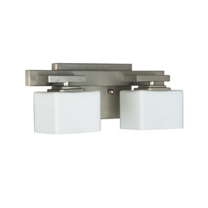 Encanto Brushed Nickel Two-Light Bath Fixture