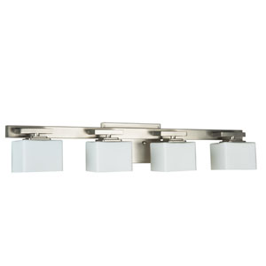 Encanto Brushed Nickel Four-Light Bath Fixture