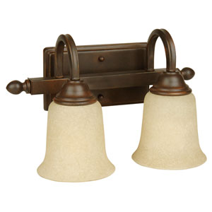 Madison Aged Bronze Two-Light Bath Fixture
