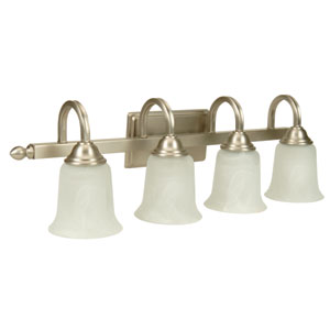 Madison Brushed Nickel Four-Light Bath Fixture