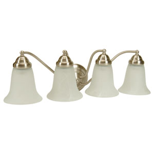 Cathryn Brushed Nickel Four-Light Bath Fixture