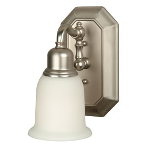 Heritage Brushed Satin Nickel One-Light Wall Sconce