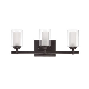 Celeste Espresso Three-Light Bath Fixture