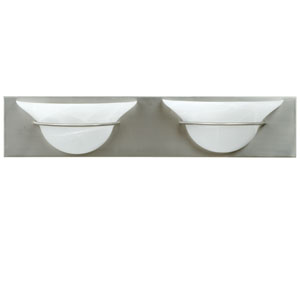 Moonglow Brushed Nickel Two-Light Bath Fixture