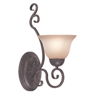 Sheridan Forged Metal One Light Wall Sconce