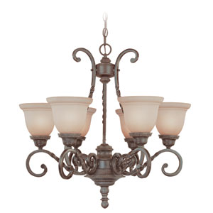 Sutherland English Toffee Six Light Chandelier
