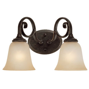 Barret Place Mocha Bronze Two Light Vanity