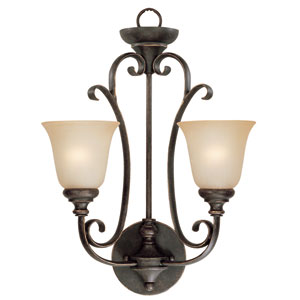 Barret Place Mocha Bronze Two Light Wall Sconce