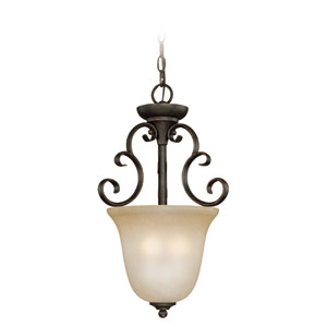Barret Place Mocha Bronze Three Light Inv. Pendant