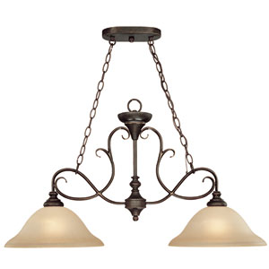 Barret Place Mocha Bronze Two Light Island