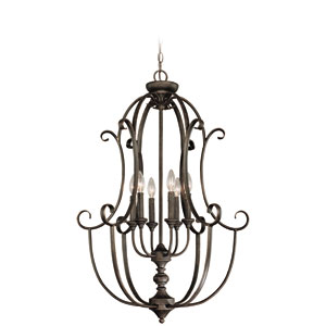 Barret Place Mocha Bronze Six Light Foyer