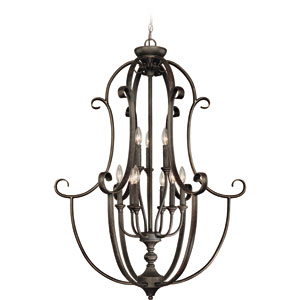 Barret Place Mocha Bronze Nine Light Foyer