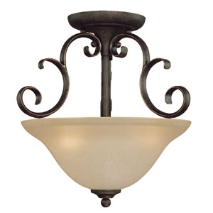 Barret Place Mocha Bronze Three Light Semi Flush