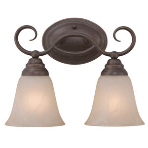 Cordova Old Bronze 13-Inch Two-Light Vanity Wall Lighting