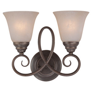Cordova Old Bronze Two Light Wall Sconce