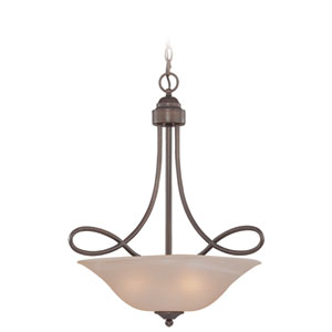 Cordova Old Bronze Three Light Inv. Pendant