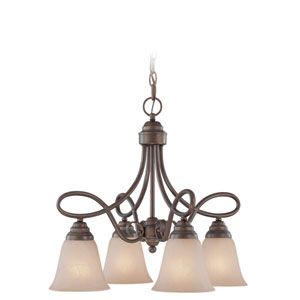 Cordova Old Bronze Four Light Chandelier