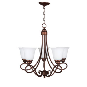 Cordova Old Bronze Five-Light Chandelier