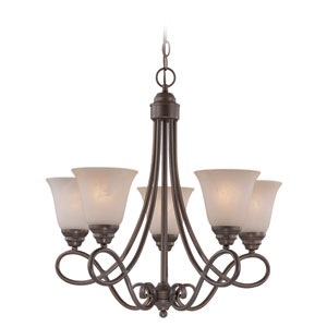 Cordova Old Bronze Five Light Chandelier