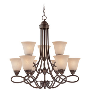 Cordova Old Bronze 29-Inch Nine-Light Chandelier