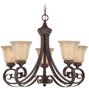 Stanton English Toffee Five Light Chandelier