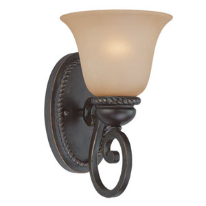 Highland Place Mocha Bronze One Light Wall Sconce