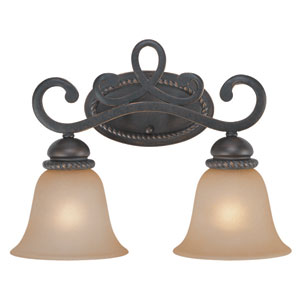 Highland Place Mocha Bronze Two Light Vanity