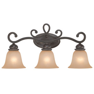 Highland Place Mocha Bronze Three Light Vanity