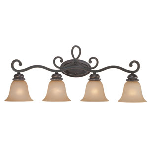 Highland Place Mocha Bronze Four Light Vanity