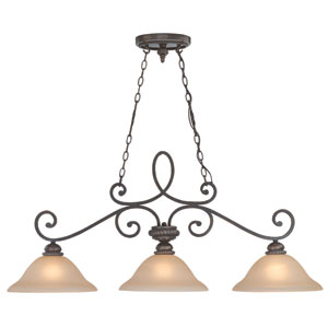 Highland Place Mocha Bronze Three Light Island