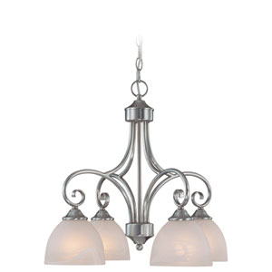 Raleigh Old Bronze Four Light Chandelier