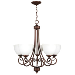 Raleigh Old Bronze Five-Light Chandelier
