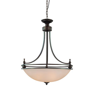 Seymour Old Bronze Four Light Inv Pendant