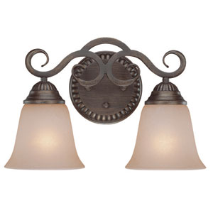 Gatewick Century Bronze Two Light Vanity