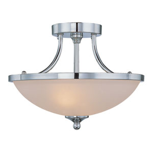 Spencer ChromeTwo Light Semi Flush
